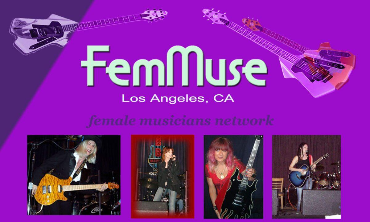 FemMuse Female Musicians Poster Logo