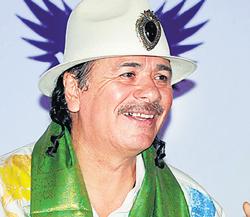 Carlos Santana was in India